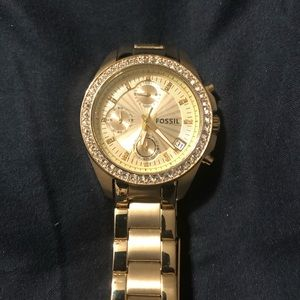 Gold Fossil Women's Watch